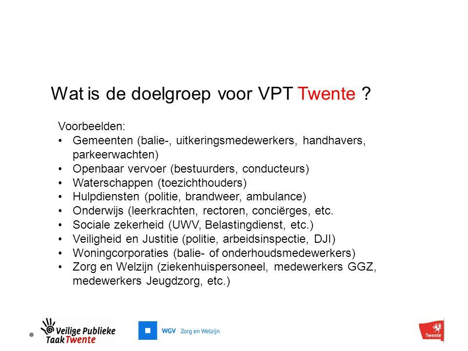 Wat is de doelgroep voor VPT Twente