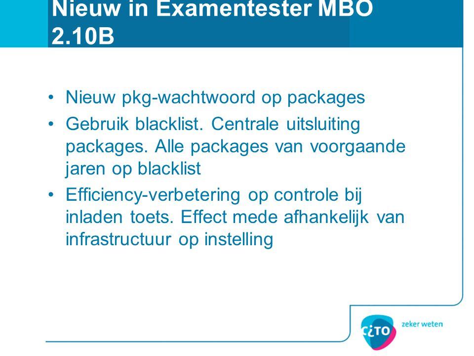 Nieuw in Examentester MBO 2.10B
