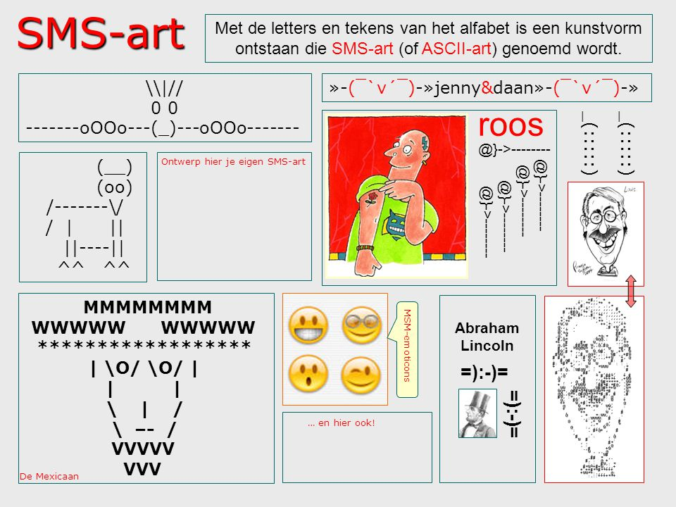 SMS-art roos =):-)= =):-)=