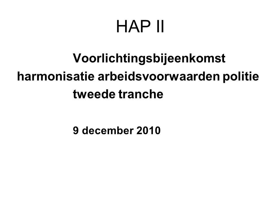 HAP II Voorlichtingsbijeenkomst