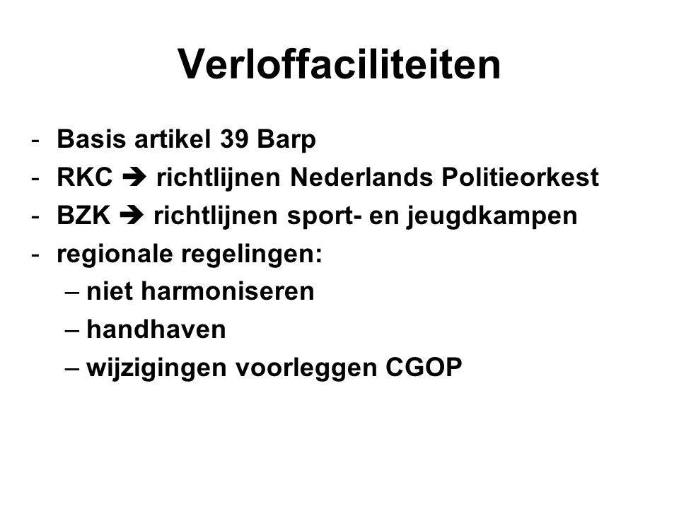 Verloffaciliteiten Basis artikel 39 Barp