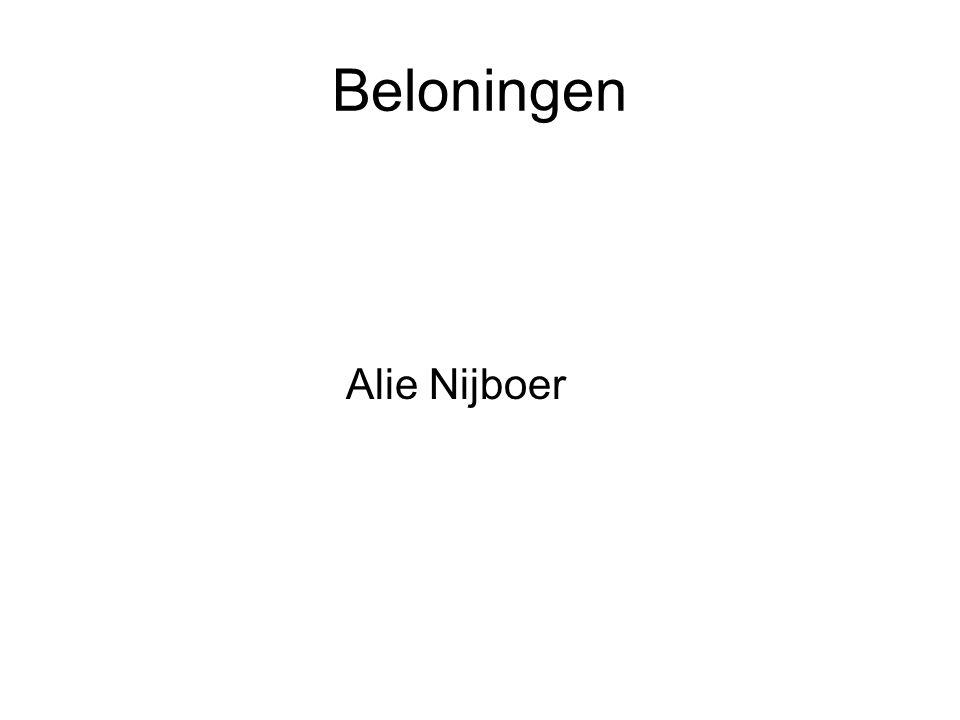 Beloningen Alie Nijboer