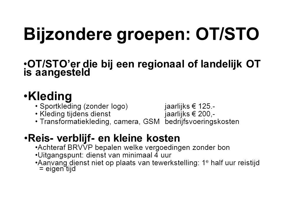Bijzondere groepen: OT/STO