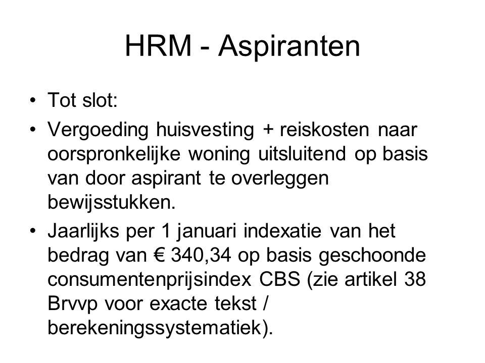 HRM - Aspiranten Tot slot: