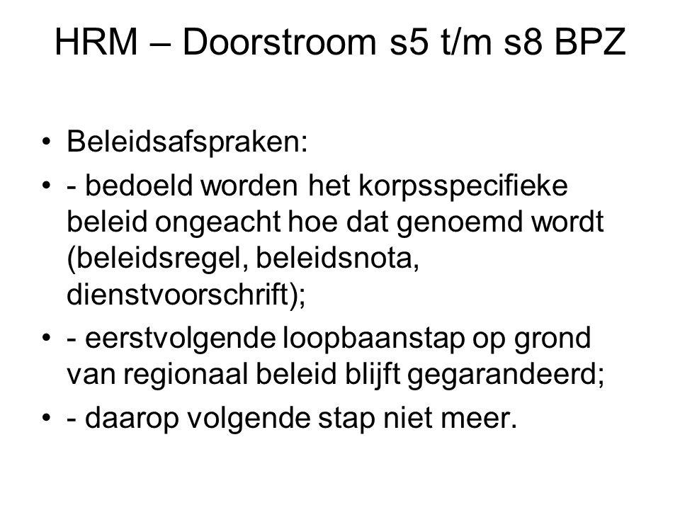 HRM – Doorstroom s5 t/m s8 BPZ