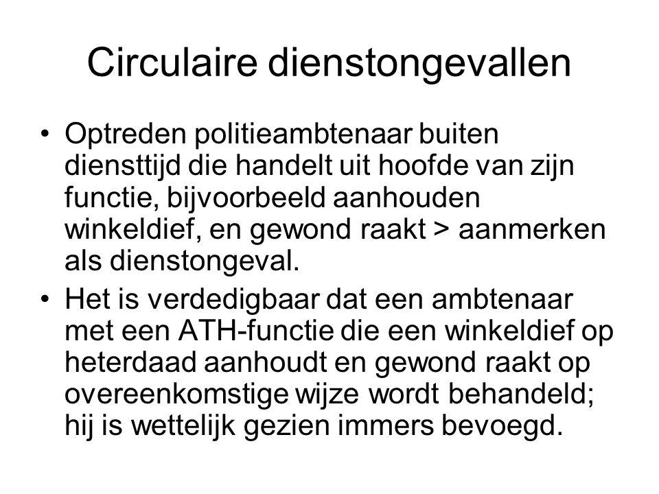 Circulaire dienstongevallen