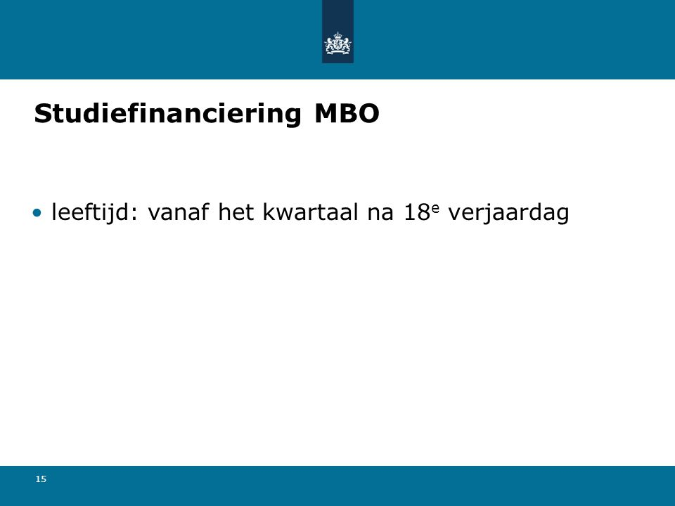 Studiefinanciering MBO