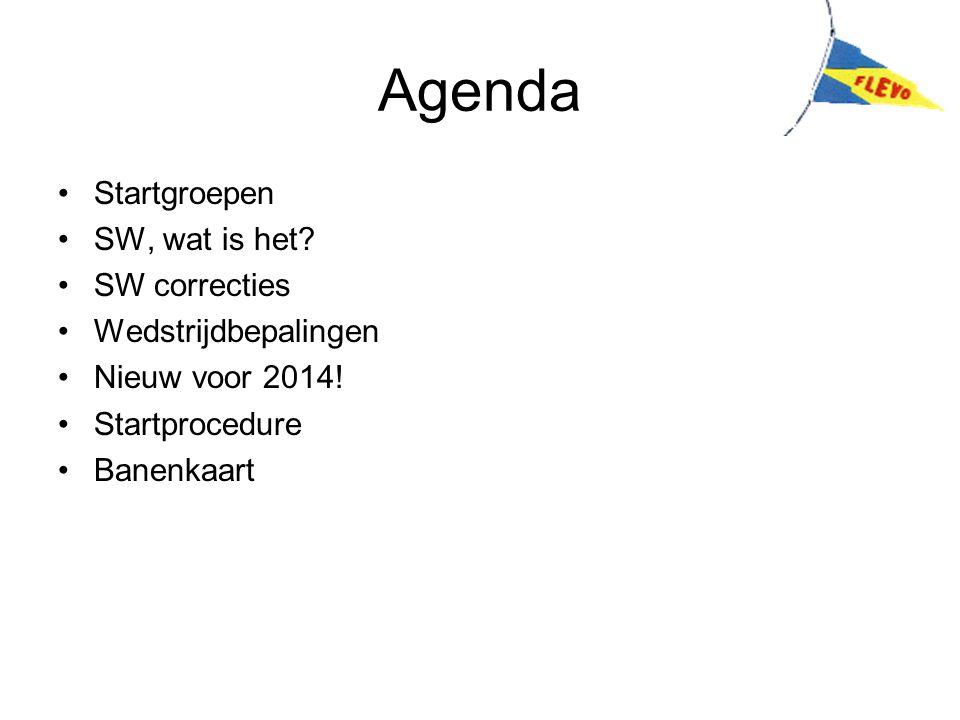 Agenda Startgroepen SW, wat is het SW correcties Wedstrijdbepalingen