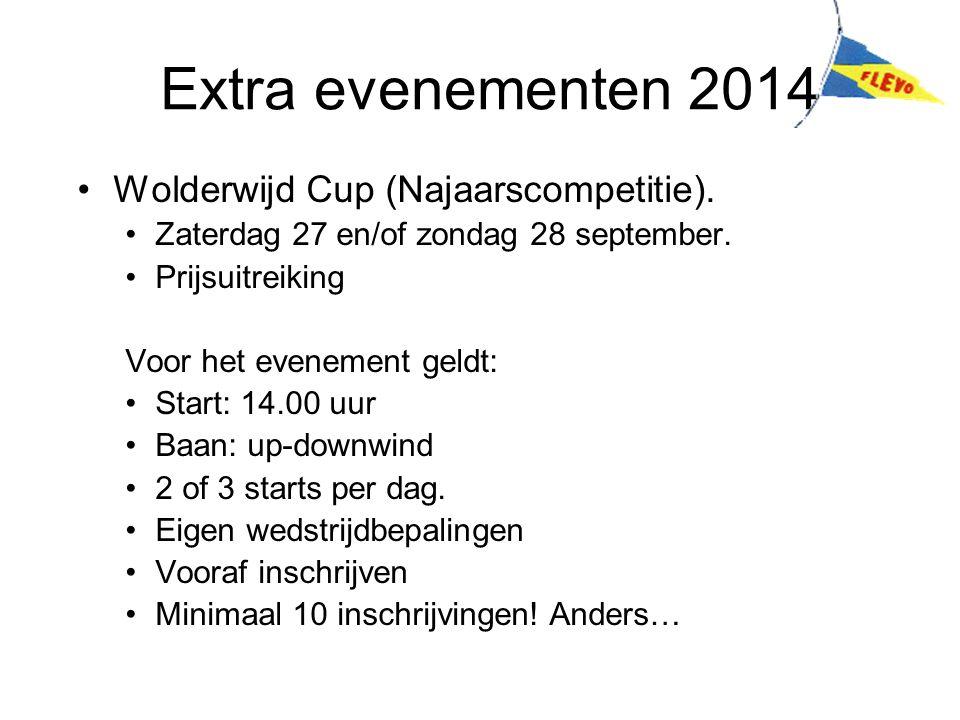 Extra evenementen 2014 Wolderwijd Cup (Najaarscompetitie).