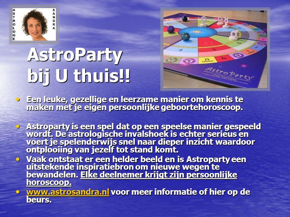 AstroParty bij U thuis!! Een leuke, gezellige en leerzame manier om kennis te maken met je eigen persoonlijke geboortehoroscoop.
