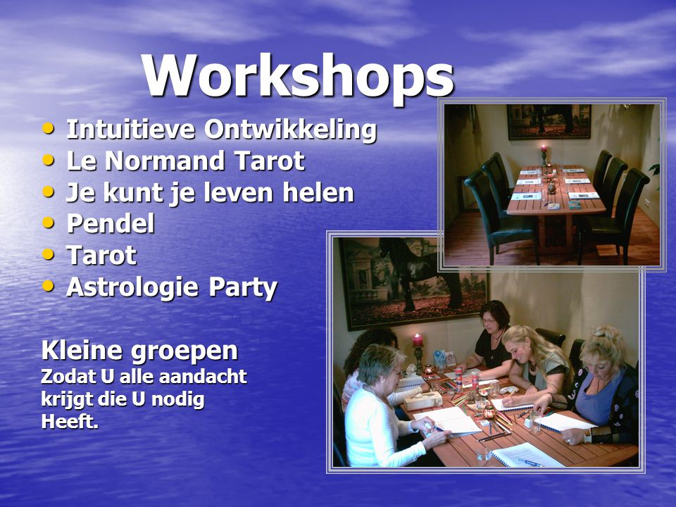 Workshops Intuitieve Ontwikkeling Le Normand Tarot