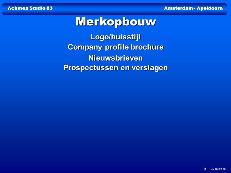 Company profile brochure Prospectussen en verslagen