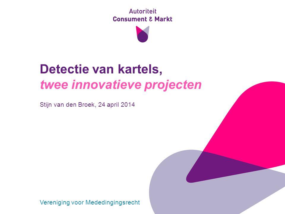 Detectie van kartels, twee innovatieve projecten