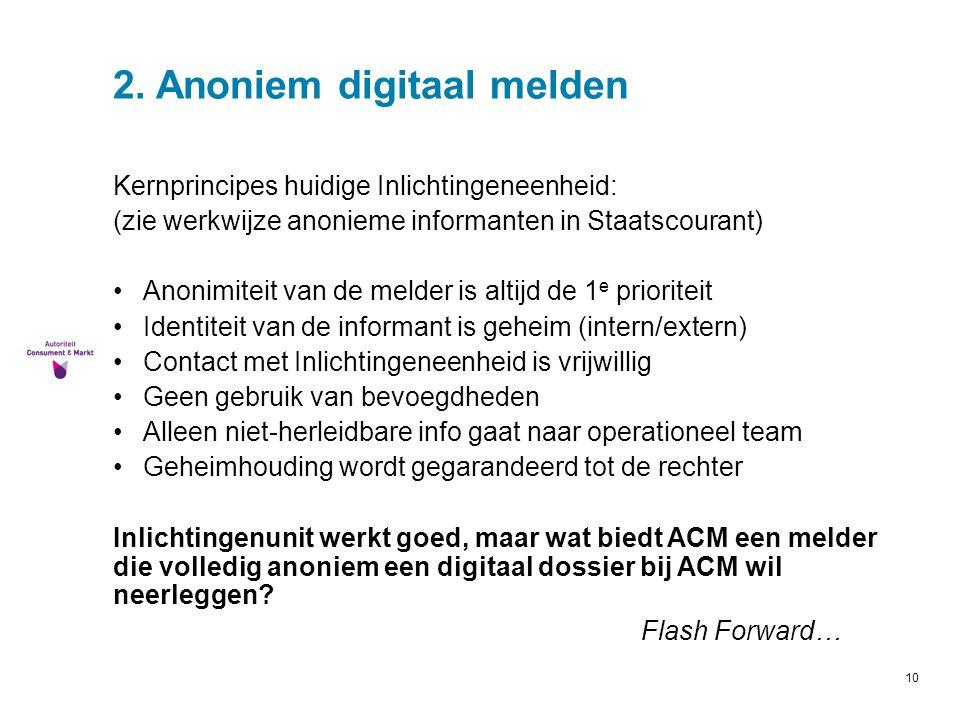 2. Anoniem digitaal melden