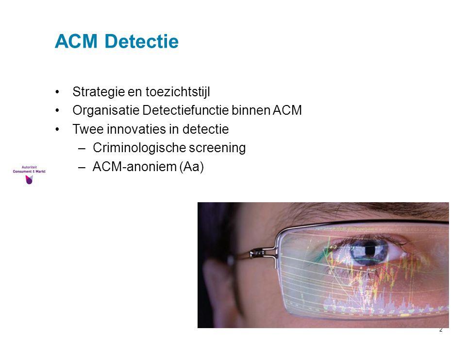 ACM Detectie Strategie en toezichtstijl