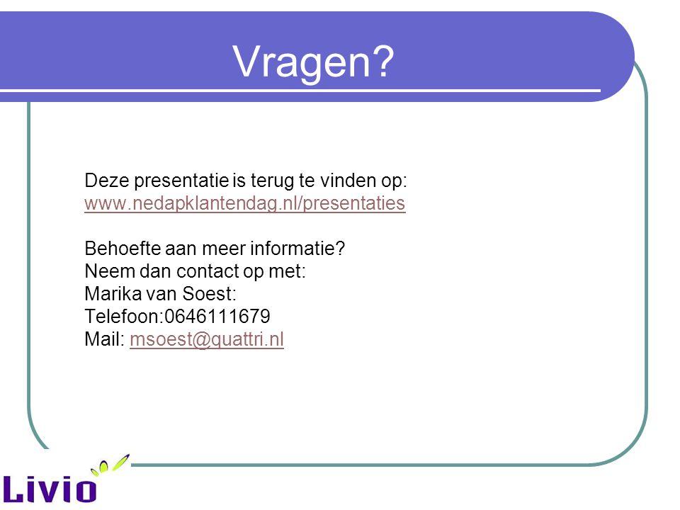 Vragen Deze presentatie is terug te vinden op: