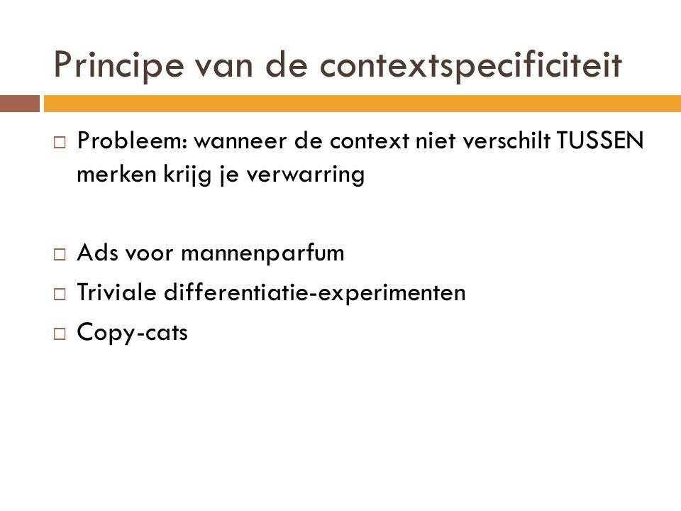 Principe van de contextspecificiteit