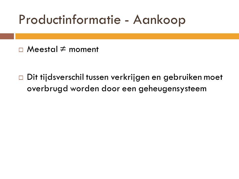 Productinformatie - Aankoop