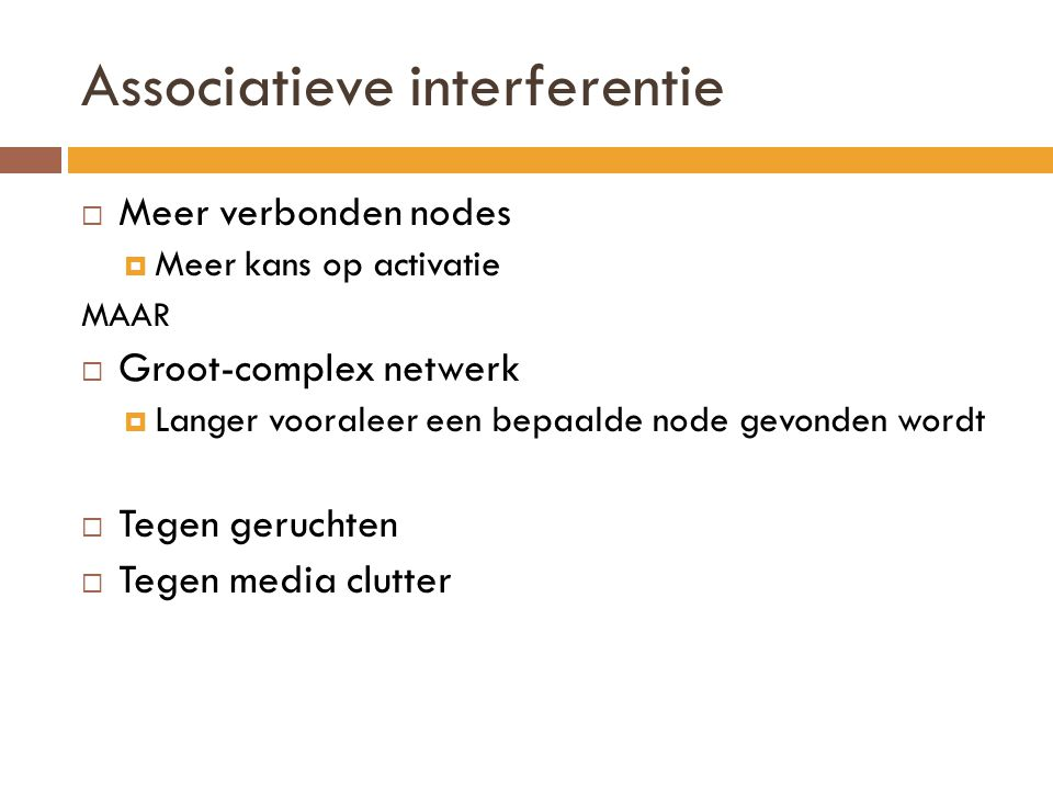 Associatieve interferentie