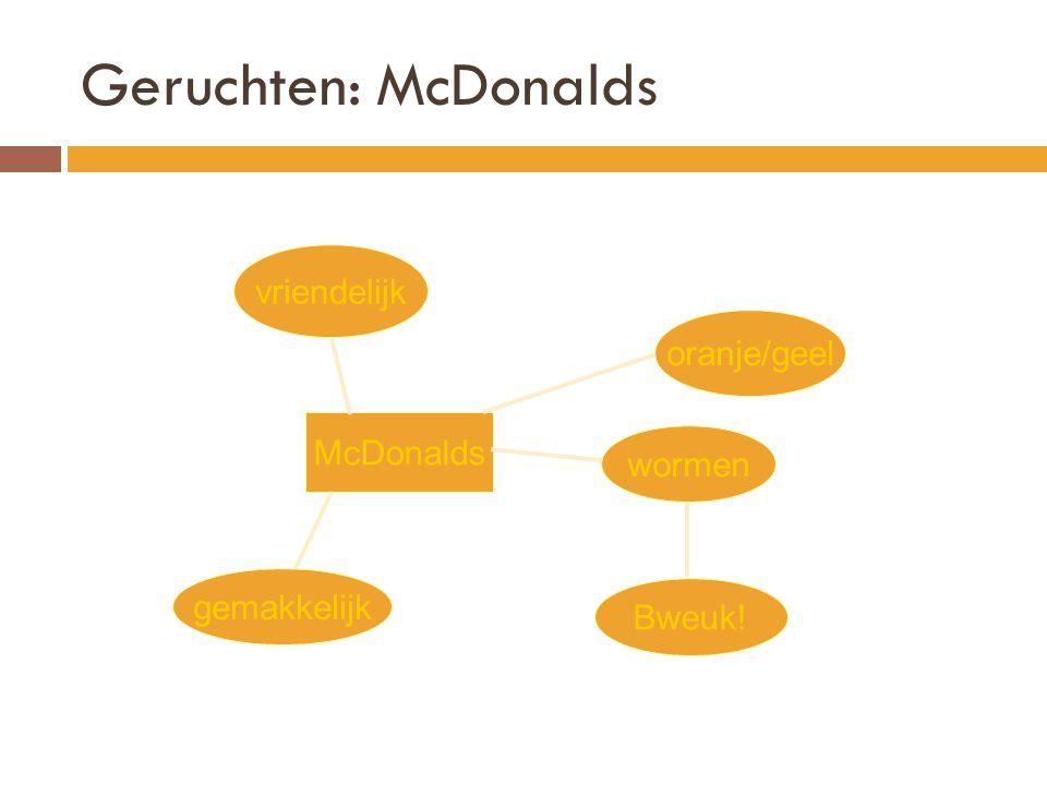Geruchten: McDonalds vriendelijk oranje/geel McDonalds wormen
