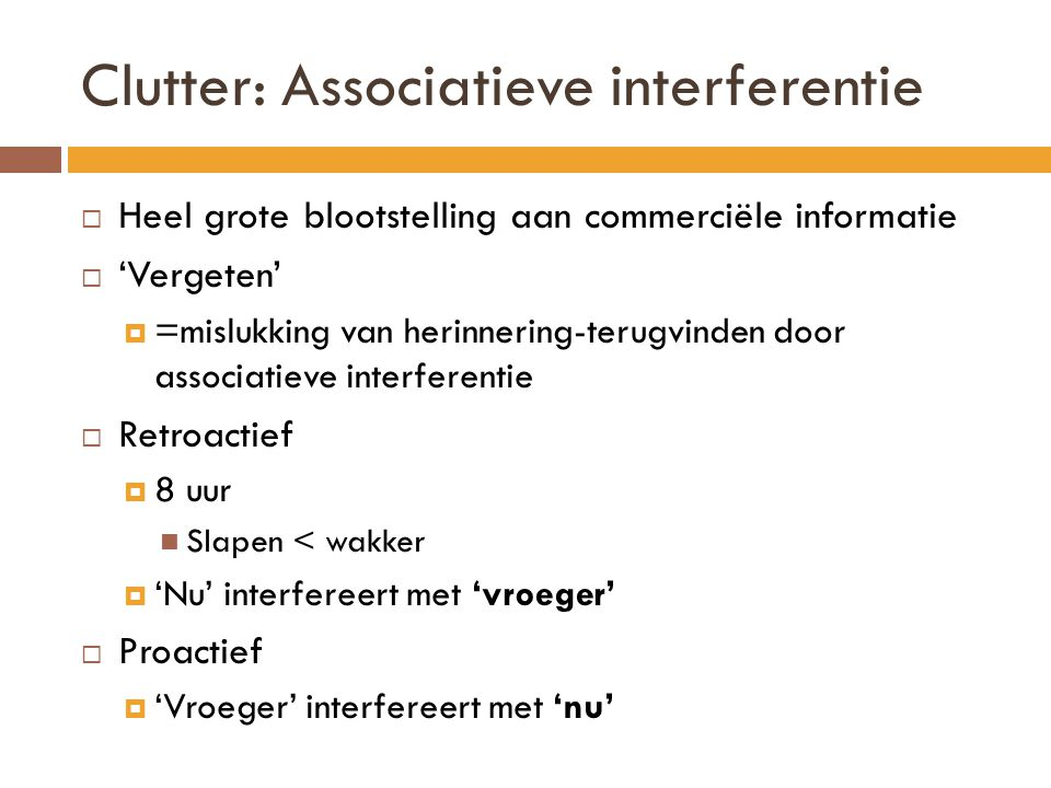 Clutter: Associatieve interferentie