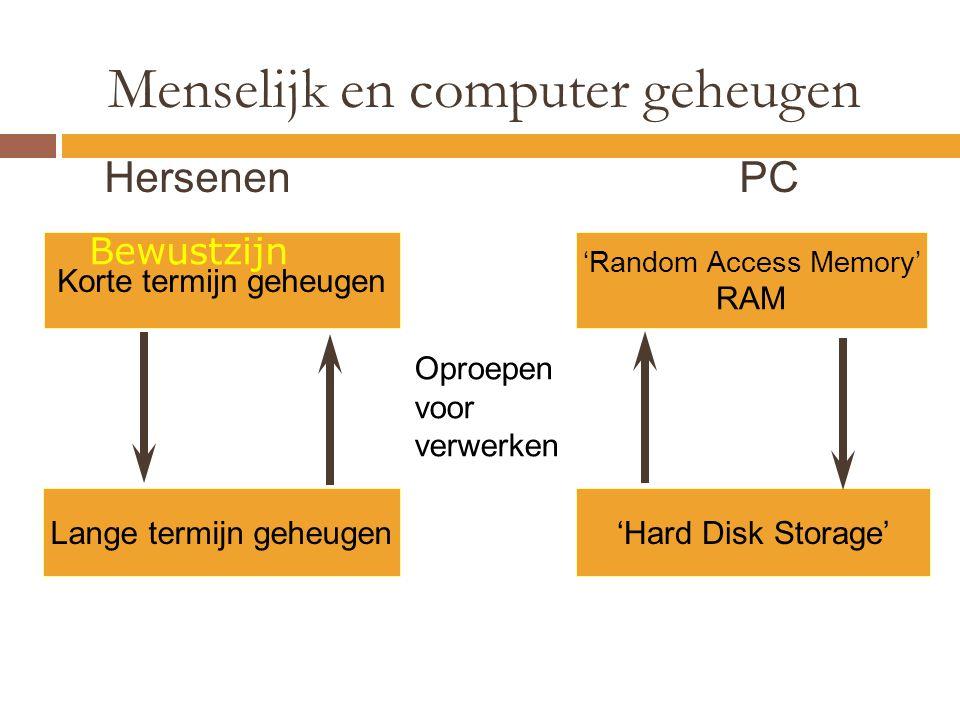 Menselijk en computer geheugen