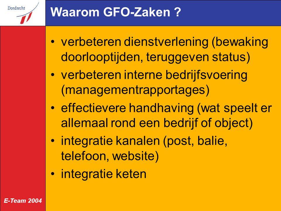 Waarom GFO-Zaken verbeteren dienstverlening (bewaking doorlooptijden, teruggeven status)