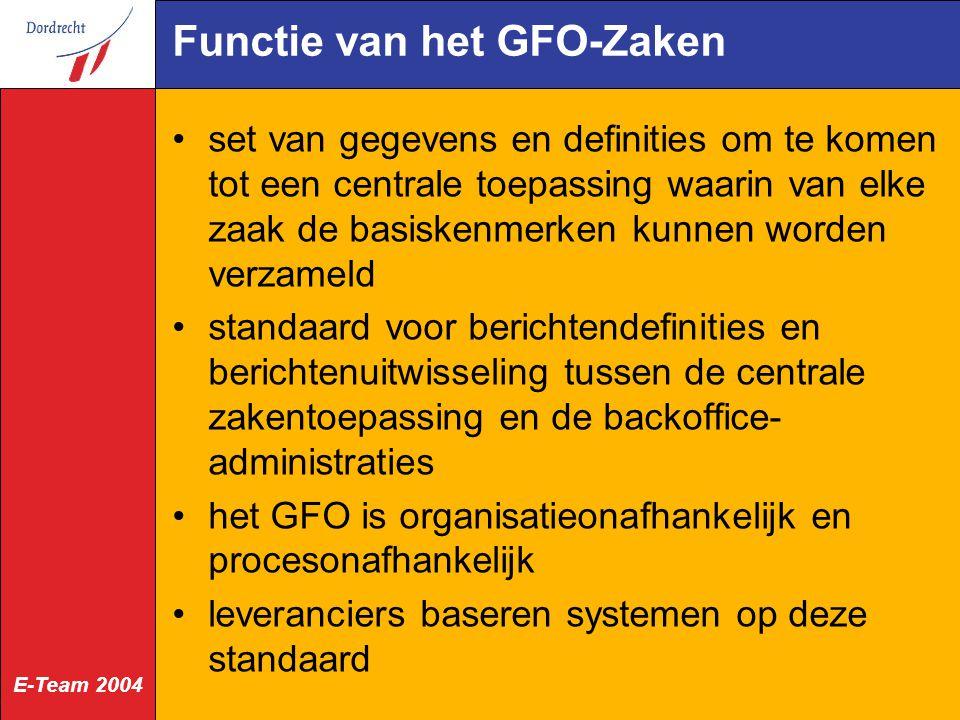 Functie van het GFO-Zaken
