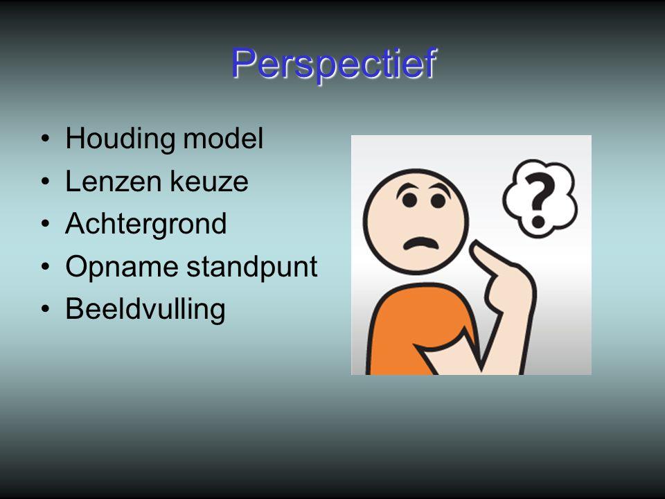Perspectief Houding model Lenzen keuze Achtergrond Opname standpunt