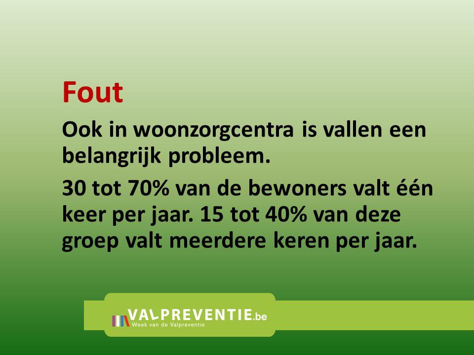 Fout Ook in woonzorgcentra is vallen een belangrijk probleem.