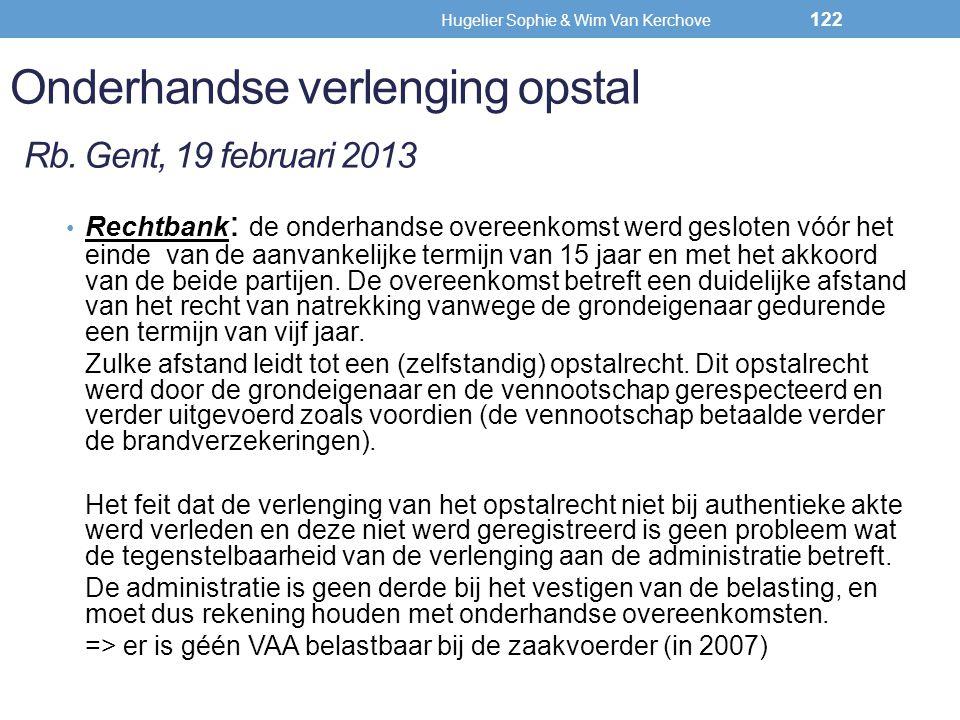 Onderhandse verlenging opstal Rb. Gent, 19 februari 2013
