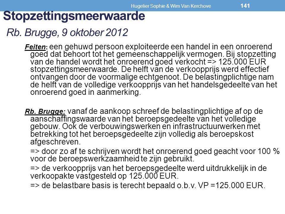 Stopzettingsmeerwaarde Rb. Brugge, 9 oktober 2012