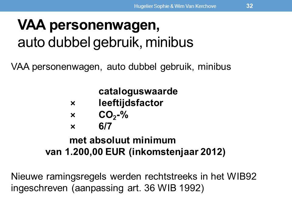 VAA personenwagen, auto dubbel gebruik, minibus