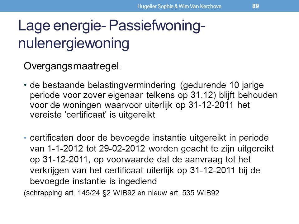 Lage energie- Passiefwoning- nulenergiewoning