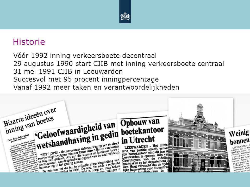 Historie Vóór 1992 inning verkeersboete decentraal