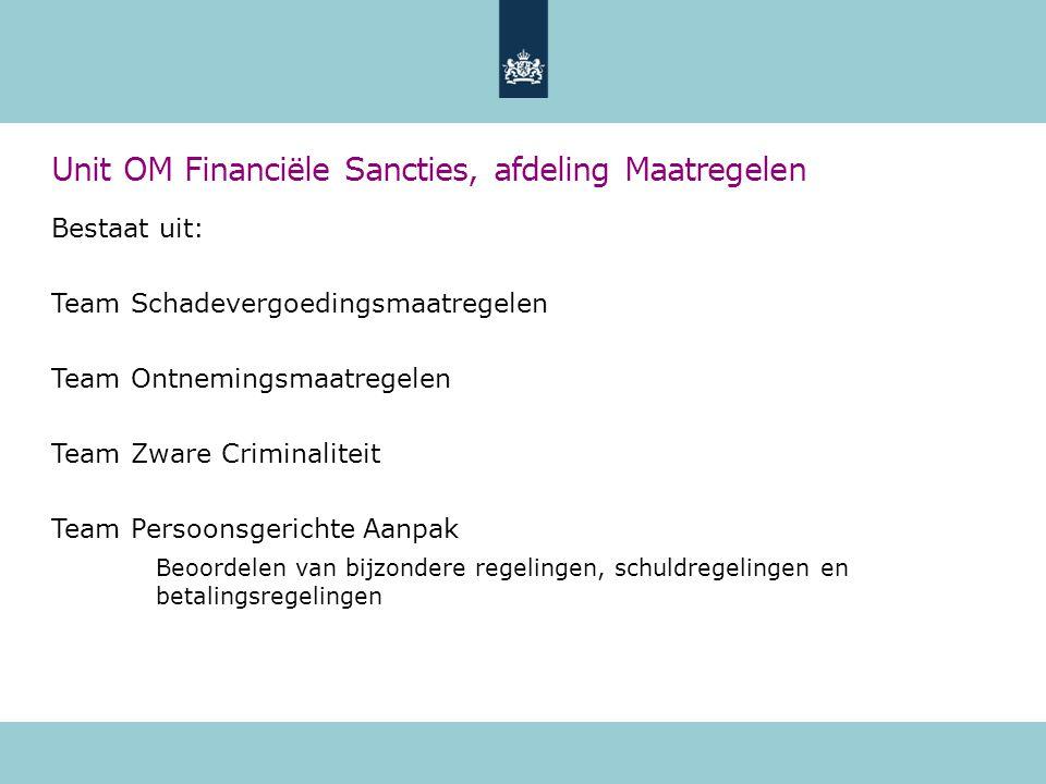 Unit OM Financiële Sancties, afdeling Maatregelen