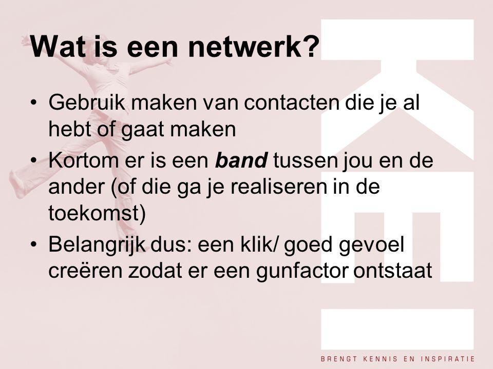 Wat is een netwerk Gebruik maken van contacten die je al hebt of gaat maken.