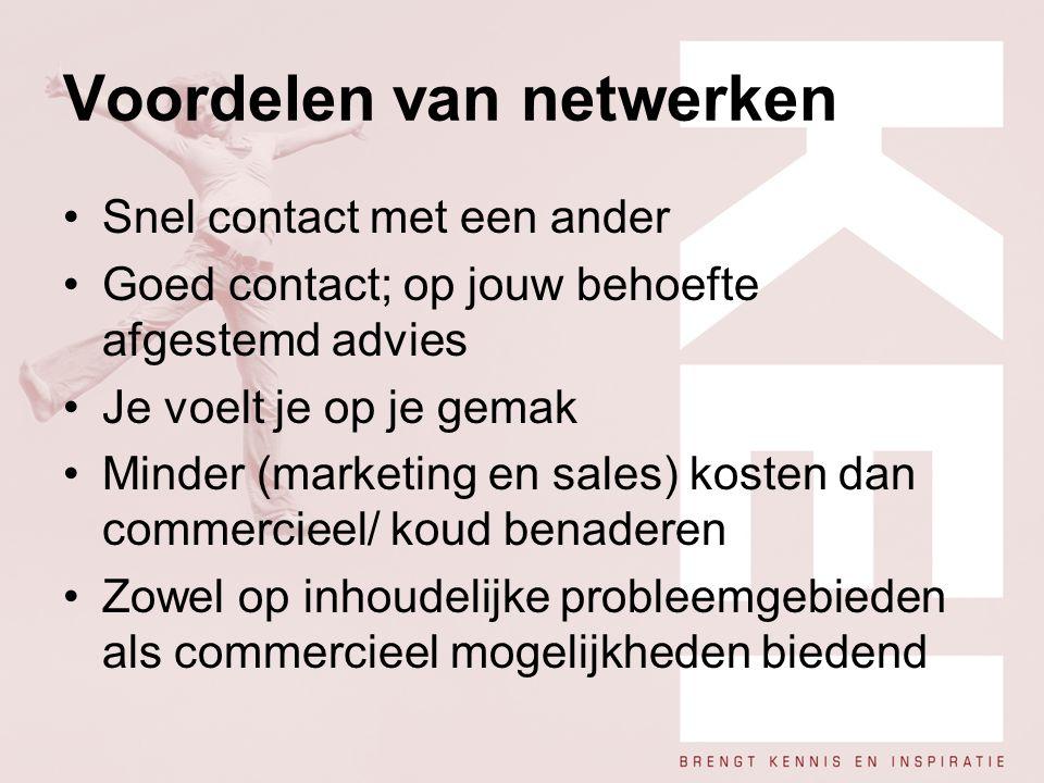 Voordelen van netwerken