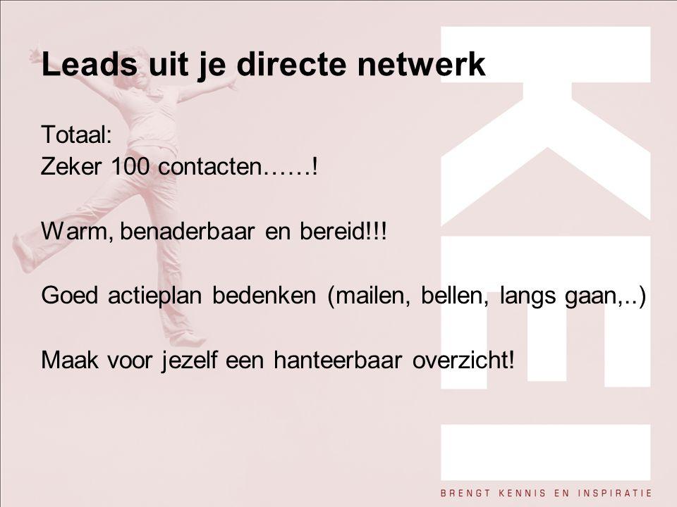 Leads uit je directe netwerk