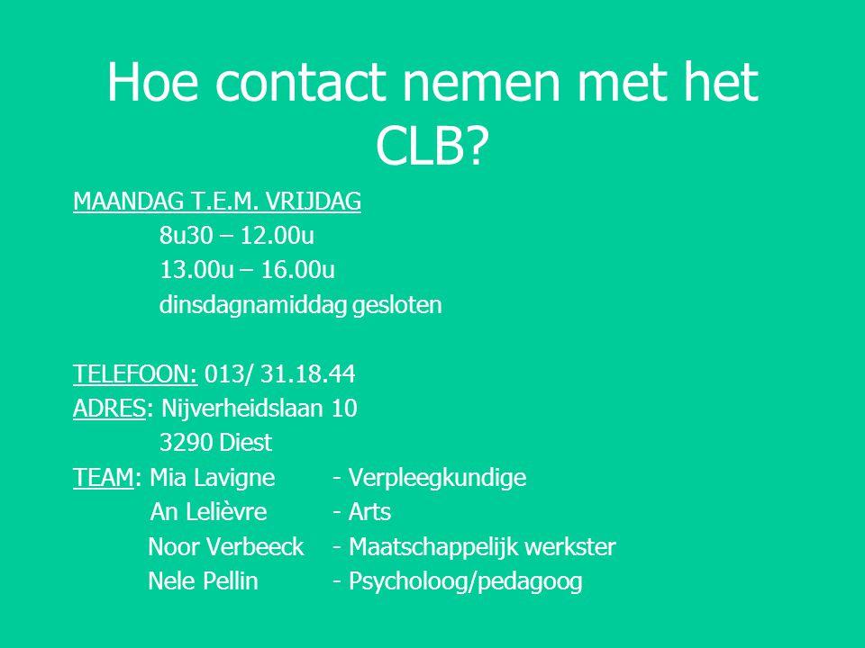 Hoe contact nemen met het CLB