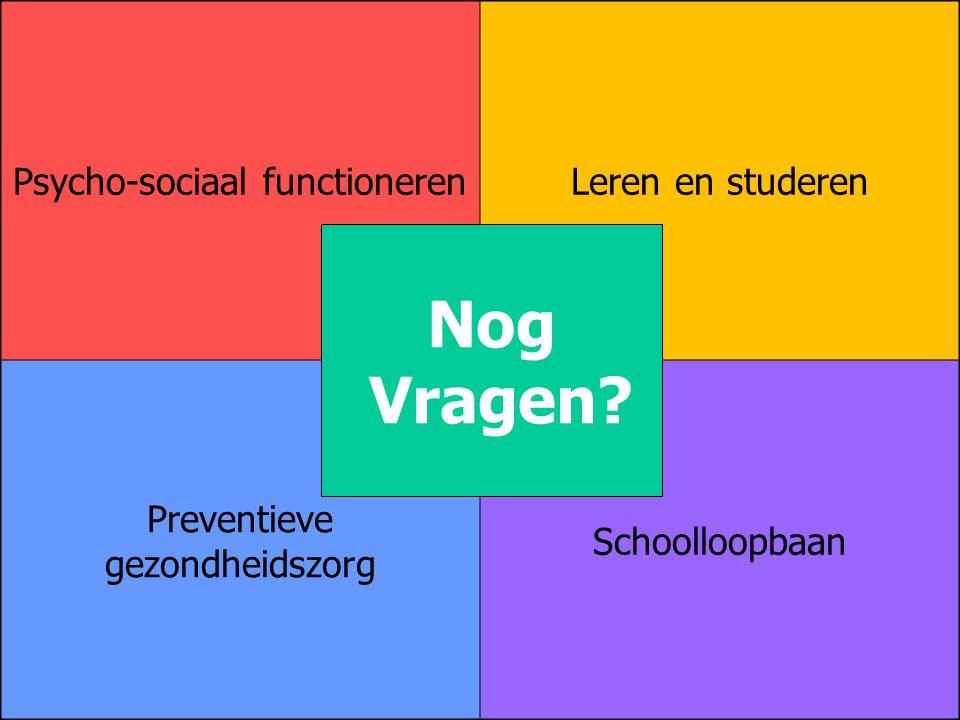 Nog Vragen Psycho-sociaal functioneren Leren en studeren