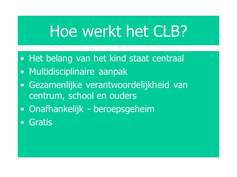 Hoe werkt het CLB Het belang van het kind staat centraal