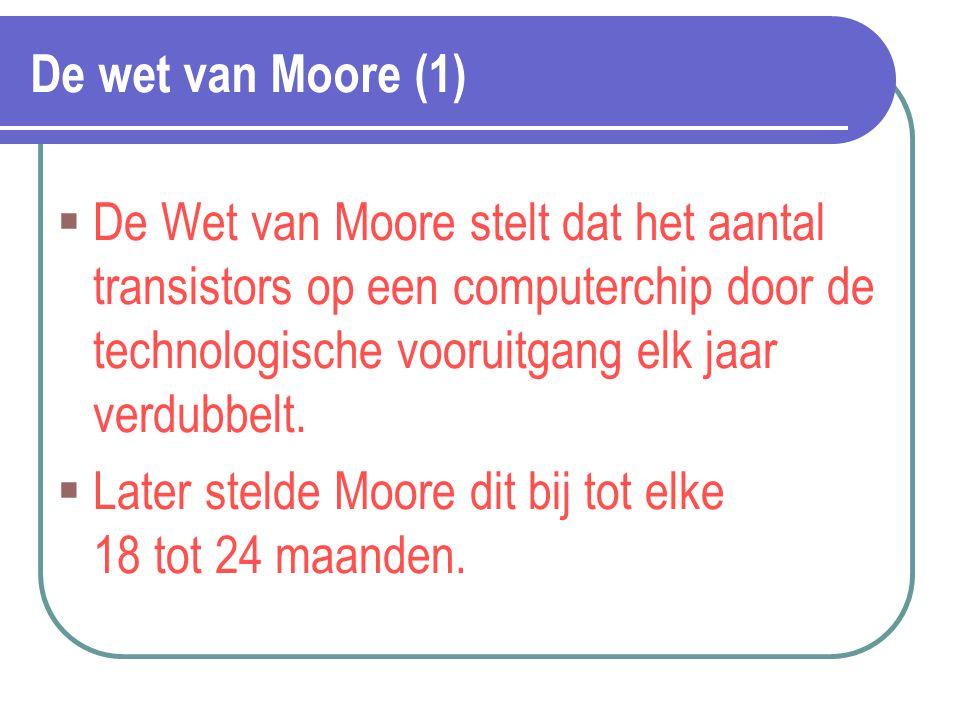 Later stelde Moore dit bij tot elke 18 tot 24 maanden.