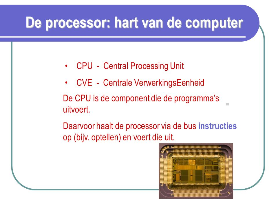 De processor: hart van de computer