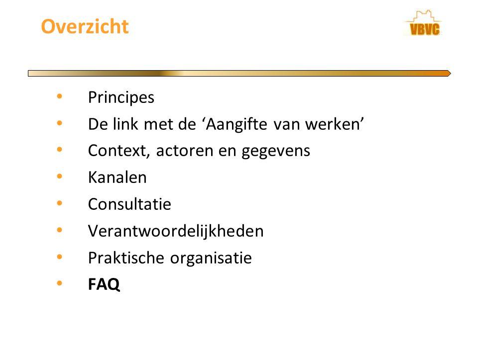 Overzicht Principes De link met de 'Aangifte van werken'