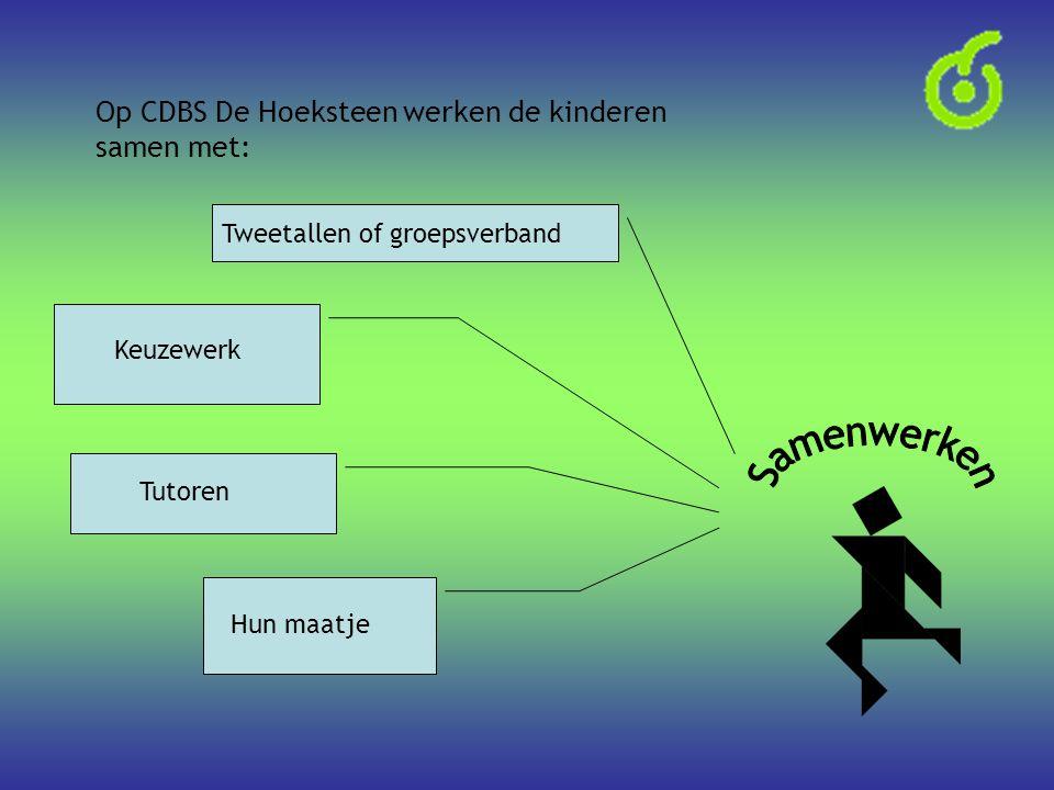 Samenwerken Op CDBS De Hoeksteen werken de kinderen samen met: