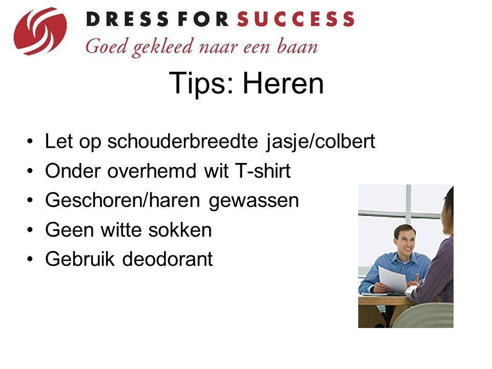 Tips: Heren Let op schouderbreedte jasje/colbert