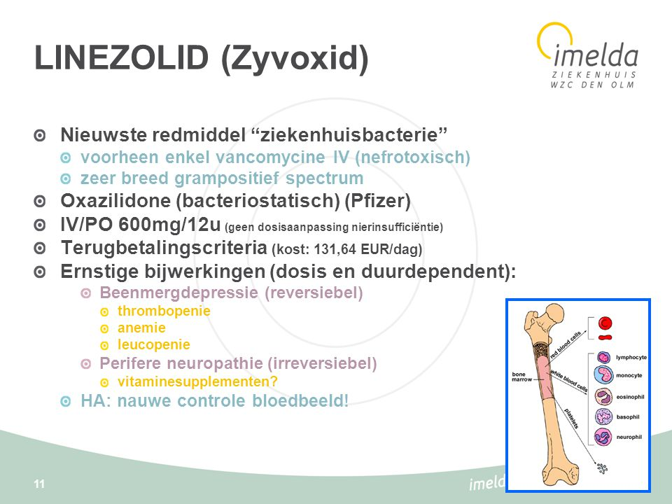 LINEZOLID (Zyvoxid) Nieuwste redmiddel ziekenhuisbacterie