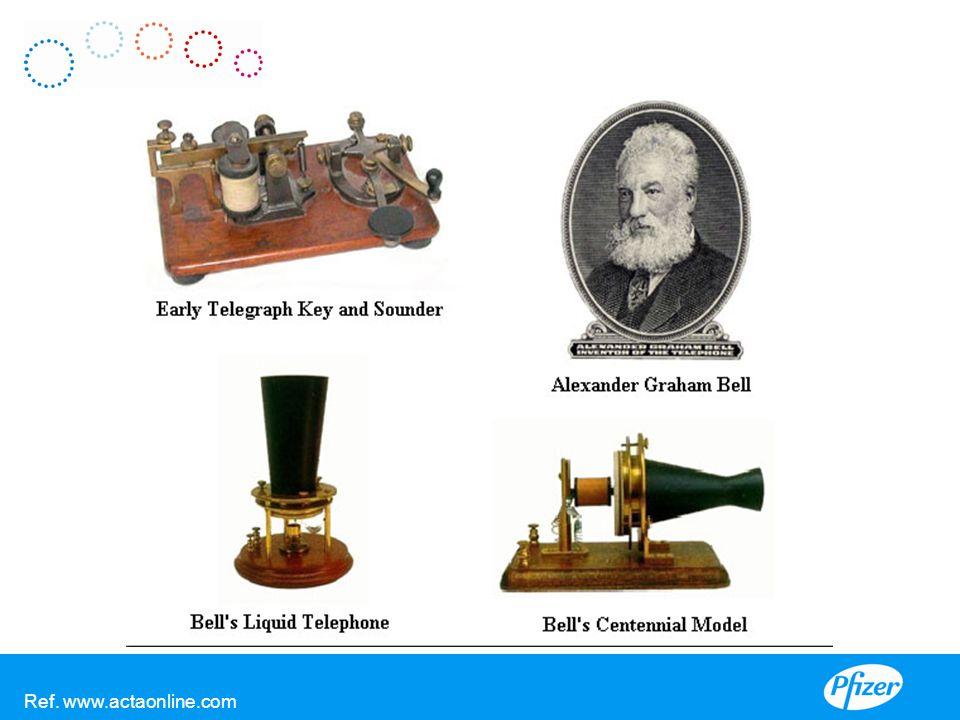 V De eerste telefoons van Bell. Ref. www.actaonline.com