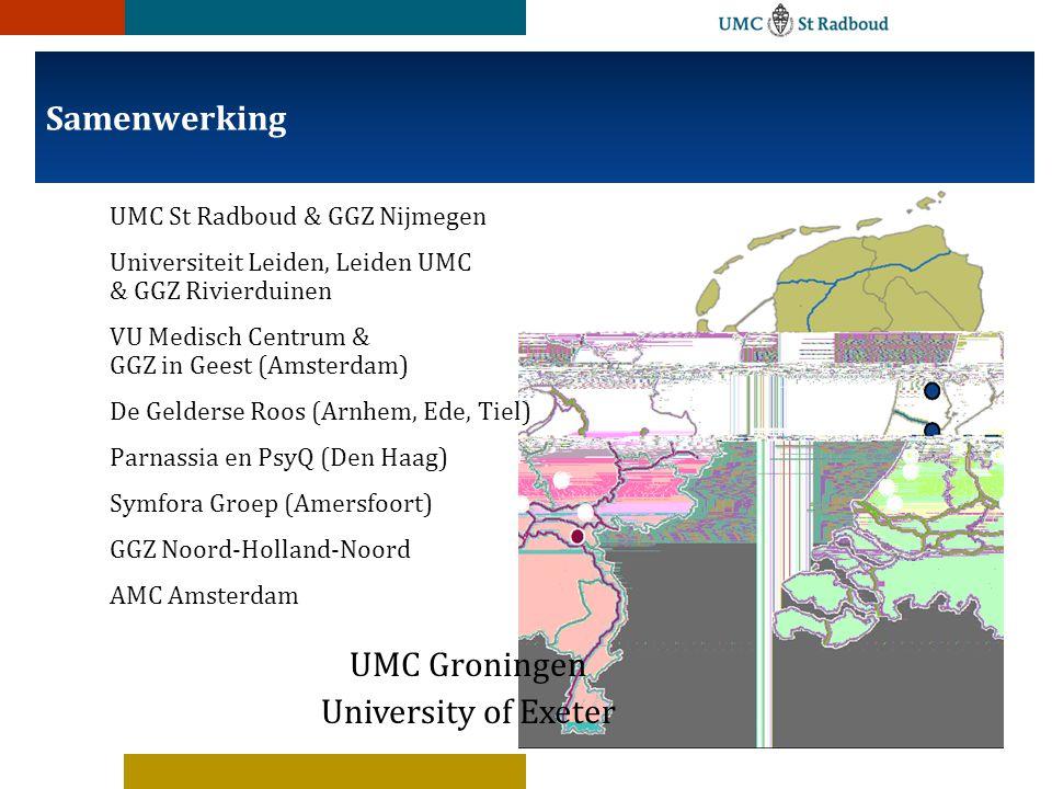 Samenwerking UMC Groningen University of Exeter